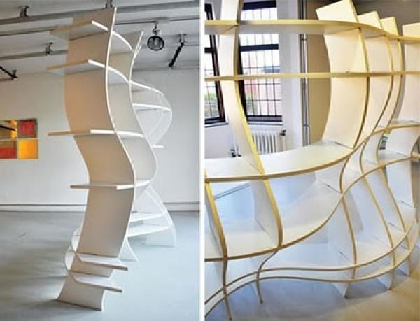 Unique funky bookcase system unique funky bookcase system - Funky interior design ideas ...